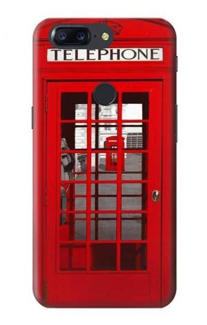 S0058 British Red Telephone Box Etui Coque Housse pour OnePlus 5T