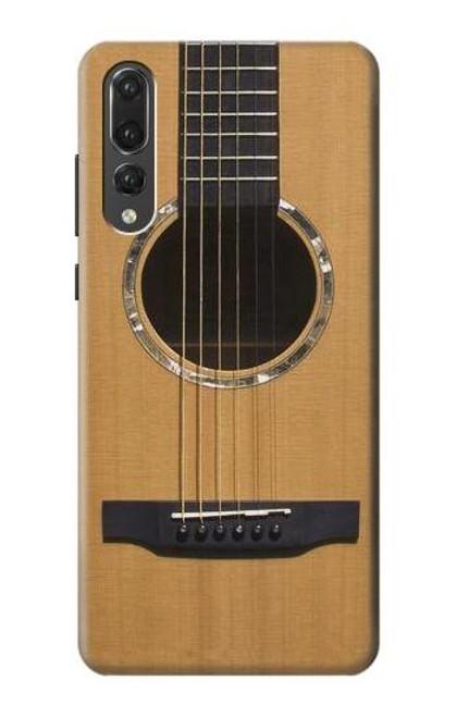 S0057 Acoustic Guitar Etui Coque Housse pour Huawei P20 Pro