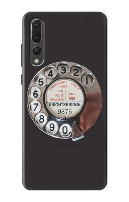 S0059 Retro Rotary Phone Dial On Etui Coque Housse pour Huawei P20 Pro