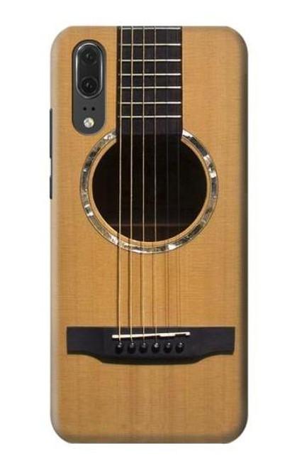 S0057 Acoustic Guitar Etui Coque Housse pour Huawei P20