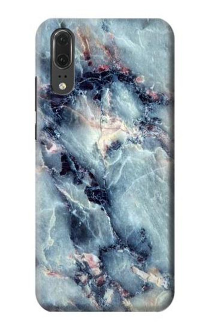 S2689 Blue Marble Texture Graphic Printed Etui Coque Housse pour Huawei P20