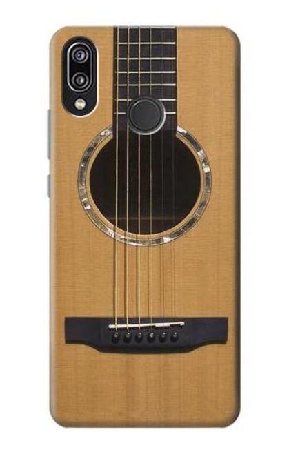 S0057 Acoustic Guitar Etui Coque Housse pour Huawei P20 Lite