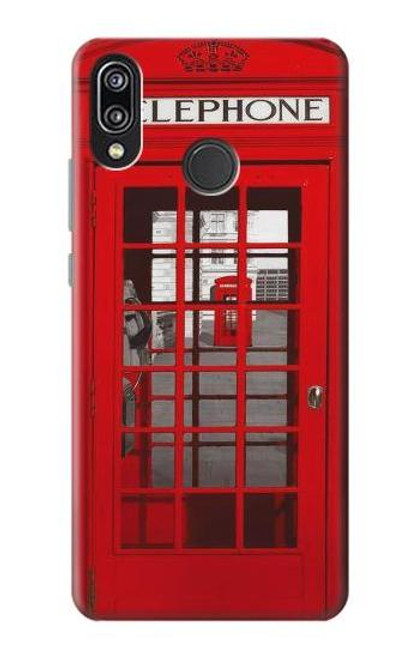 S0058 British Red Telephone Box Etui Coque Housse pour Huawei P20 Lite
