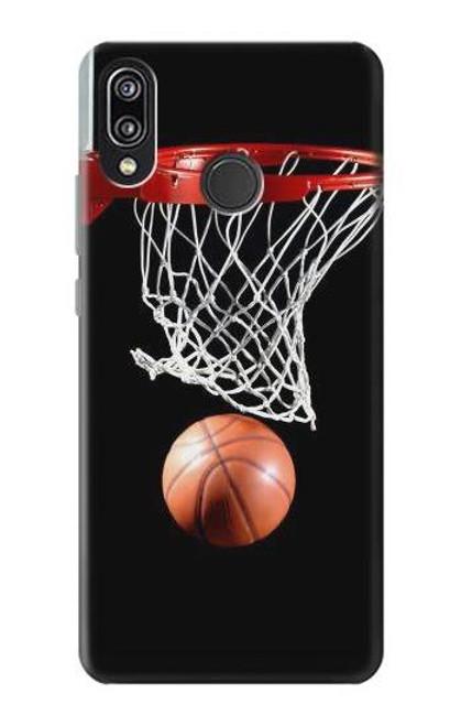 S0066 Basketball Etui Coque Housse pour Huawei P20 Lite