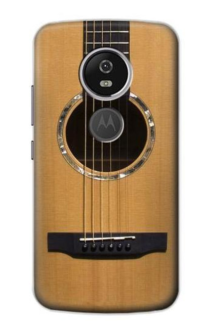 S0057 Acoustic Guitar Etui Coque Housse pour Motorola Moto E5 Plus