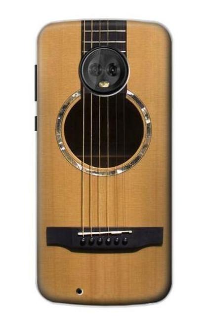 S0057 Acoustic Guitar Etui Coque Housse pour Motorola Moto G6