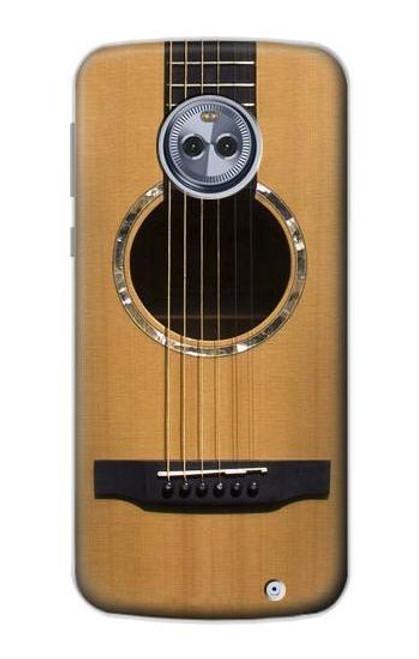 S0057 Acoustic Guitar Etui Coque Housse pour Motorola Moto X4