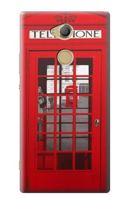 S0058 British Red Telephone Box Etui Coque Housse pour Sony Xperia XA2 Ultra