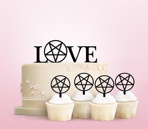 TC0183 Love Star Cake Cupcake Toppers Acrylique De Mariage Joyeux pour Gâteau Partie Décoration 11 Pièces
