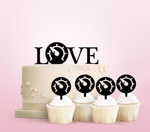 TC0189 Love Gauge Cake Cupcake Toppers Acrylique De Mariage Joyeux pour Gâteau Partie Décoration 11 Pièces