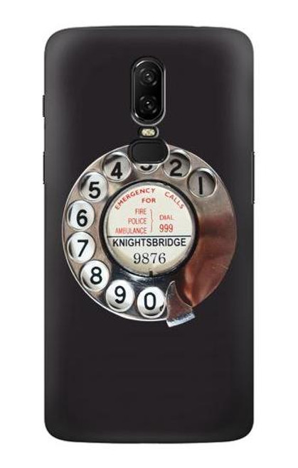 S0059 Retro Rotary Phone Dial On Etui Coque Housse pour OnePlus 6
