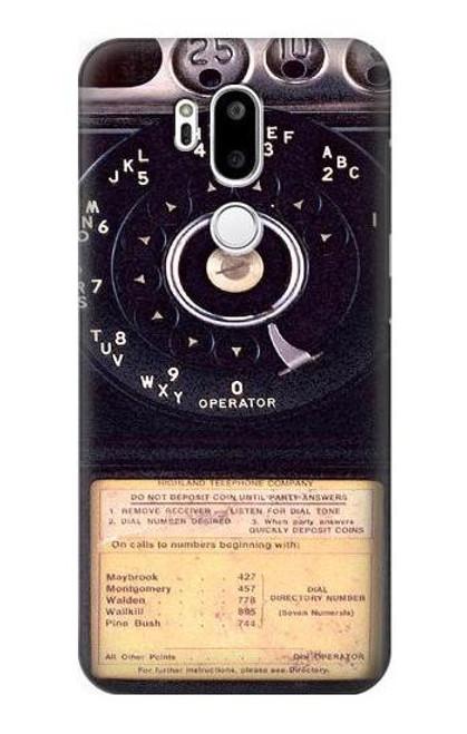 S0086 Payphone Vintage Etui Coque Housse pour LG G7 ThinQ