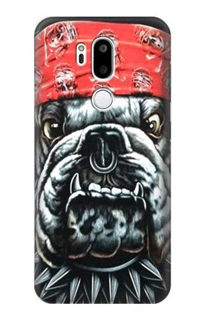 S0100 Bulldog American Football Etui Coque Housse pour LG G7 ThinQ