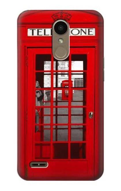 S0058 British Red Telephone Box Etui Coque Housse pour LG K10 (2018), LG K30