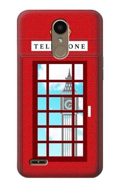 S2059 England British Telephone Box Minimalist Etui Coque Housse pour LG K10 (2018), LG K30
