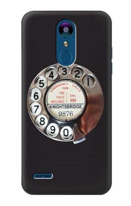 S0059 Retro Rotary Phone Dial On Etui Coque Housse pour LG K8 (2018)