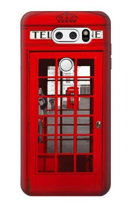 S0058 British Red Telephone Box Etui Coque Housse pour LG V30, LG V30 Plus, LG V30S ThinQ, LG V35, LG V35 ThinQ