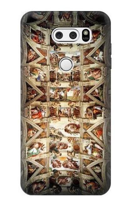 S0177 Michelangelo Chapel ceiling Etui Coque Housse pour LG V30, LG V30 Plus, LG V30S ThinQ, LG V35, LG V35 ThinQ