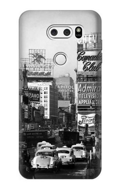 S0182 Old New York Vintage Etui Coque Housse pour LG V30, LG V30 Plus, LG V30S ThinQ, LG V35, LG V35 ThinQ