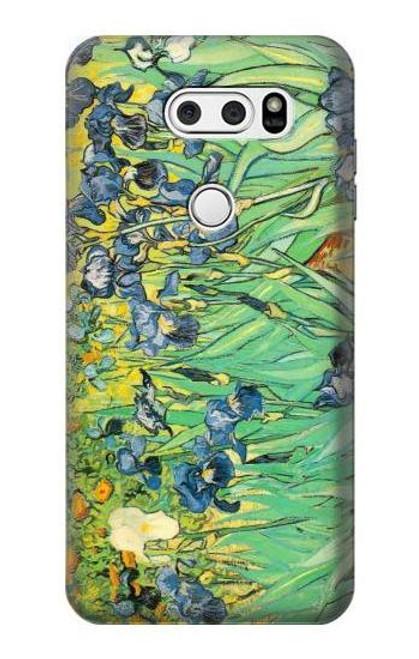 S0210 Van Gogh Irises Etui Coque Housse pour LG V30, LG V30 Plus, LG V30S ThinQ, LG V35, LG V35 ThinQ