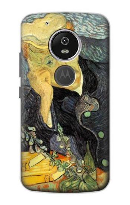 S0212 Van Gogh Portrait of Dr. Gachet Etui Coque Housse pour Motorola Moto G6 Play, Moto G6 Forge, Moto E5