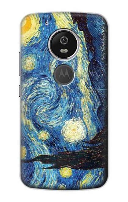 S0213 Van Gogh Starry Nights Etui Coque Housse pour Motorola Moto G6 Play, Moto G6 Forge, Moto E5