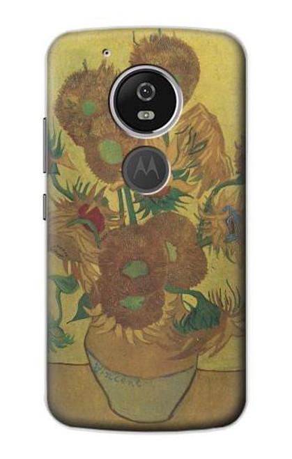 S0214 Van Gogh Vase Fifteen Sunflowers Etui Coque Housse pour Motorola Moto G6 Play, Moto G6 Forge, Moto E5