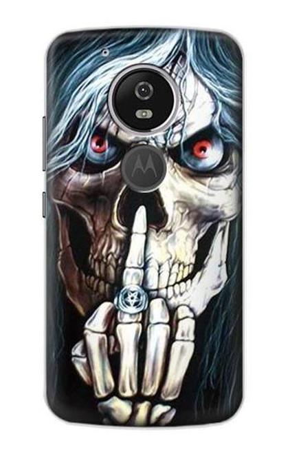 S0222 Skull Pentagram Etui Coque Housse pour Motorola Moto G6 Play, Moto G6 Forge, Moto E5