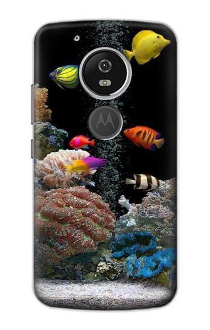 S0226 Aquarium Etui Coque Housse pour Motorola Moto G6 Play, Moto G6 Forge, Moto E5