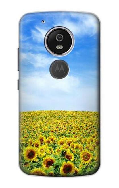 S0232 Sunflower Etui Coque Housse pour Motorola Moto G6 Play, Moto G6 Forge, Moto E5