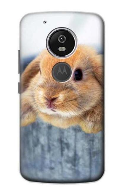 S0242 Cute Rabbit Etui Coque Housse pour Motorola Moto G6 Play, Moto G6 Forge, Moto E5