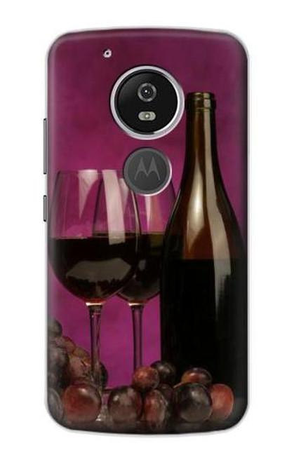 S0910 Red Wine Etui Coque Housse pour Motorola Moto G6 Play, Moto G6 Forge, Moto E5