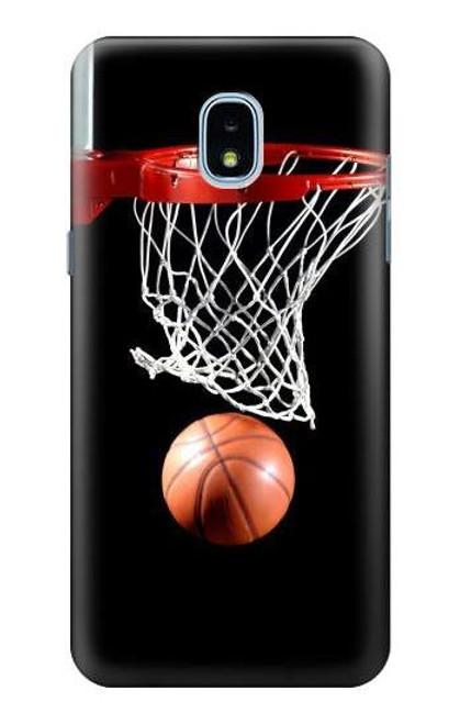 S0066 Basketball Etui Coque Housse pour Samsung Galaxy J3 (2018), J3 Star, J3 V 3rd Gen, J3 Orbit, J3 Achieve, Express Prime 3, Amp Prime 3