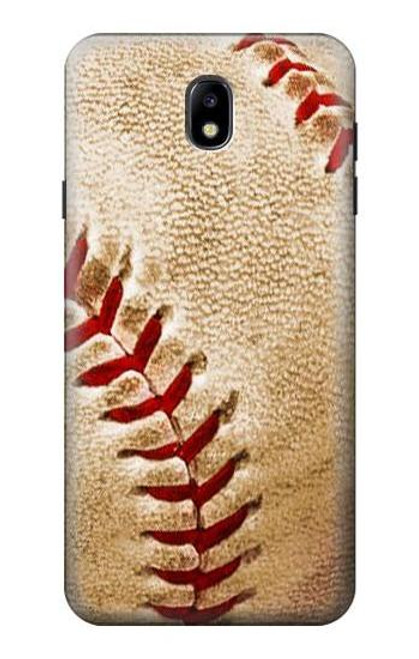 S0064 Baseball Etui Coque Housse pour Samsung Galaxy J7 (2018), J7 Aero, J7 Top, J7 Aura, J7 Crown, J7 Refine, J7 Eon, J7 V 2nd Gen, J7 Star