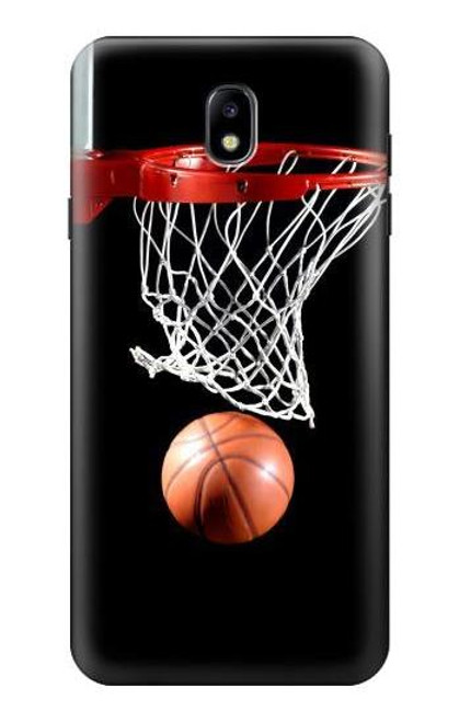 S0066 Basketball Etui Coque Housse pour Samsung Galaxy J7 (2018), J7 Aero, J7 Top, J7 Aura, J7 Crown, J7 Refine, J7 Eon, J7 V 2nd Gen, J7 Star