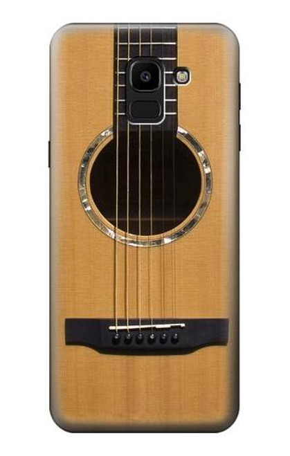 S0057 Acoustic Guitar Etui Coque Housse pour Samsung Galaxy J6 (2018)