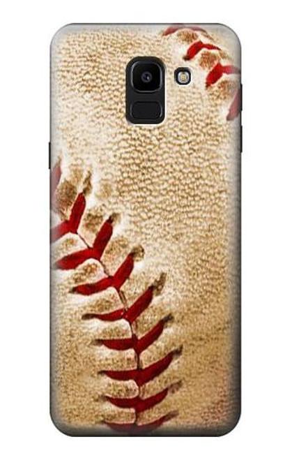 S0064 Baseball Etui Coque Housse pour Samsung Galaxy J6 (2018)