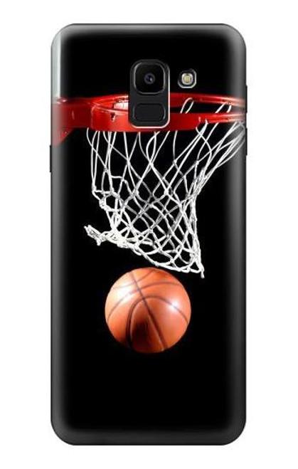 S0066 Basketball Etui Coque Housse pour Samsung Galaxy J6 (2018)