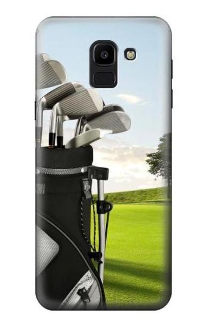 S0067 Golf Etui Coque Housse pour Samsung Galaxy J6 (2018)
