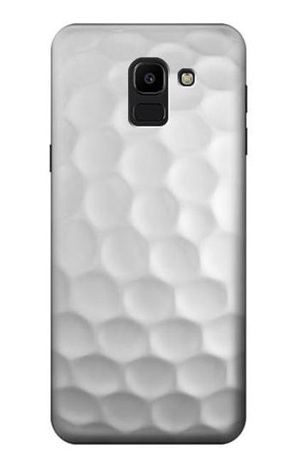 S0071 Golf Ball Etui Coque Housse pour Samsung Galaxy J6 (2018)