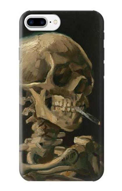 S3358 Vincent Van Gogh Skeleton Cigarette Etui Coque Housse pour iPhone 7 Plus, iPhone 8 Plus