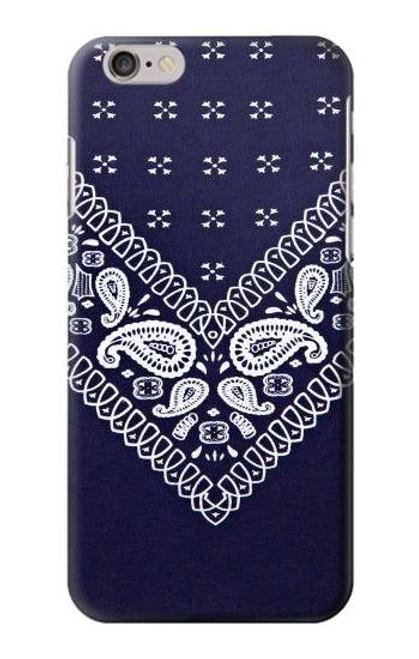 S3357 Navy Blue Bandana Pattern Etui Coque Housse pour iPhone 6 6S