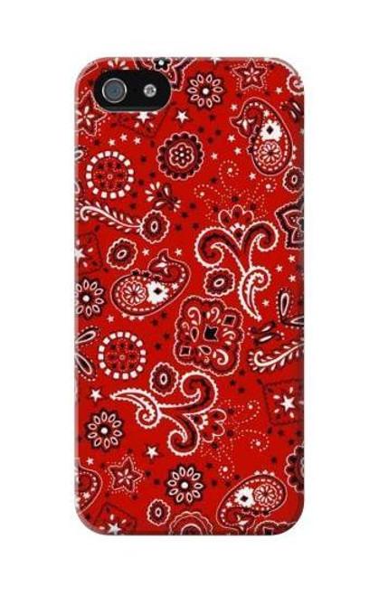S3354 Red Classic Bandana Etui Coque Housse pour iPhone 5C