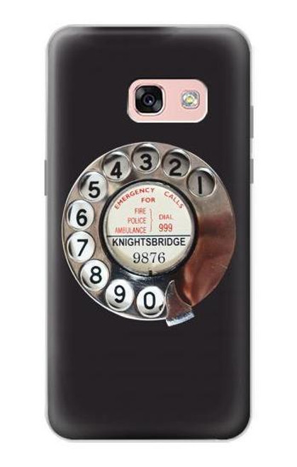 S0059 Retro Rotary Phone Dial On Etui Coque Housse pour Samsung Galaxy A3 (2017)