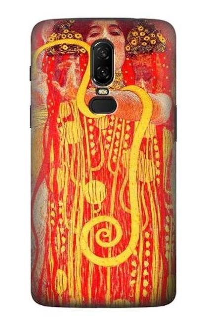 S3352 Gustav Klimt Medicine Etui Coque Housse pour OnePlus 6