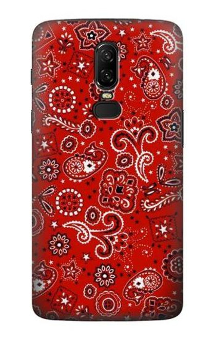 S3354 Red Classic Bandana Etui Coque Housse pour OnePlus 6