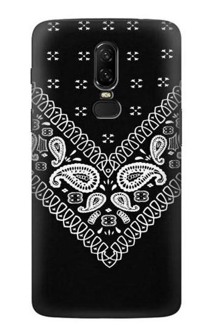 S3363 Bandana Black Pattern Etui Coque Housse pour OnePlus 6