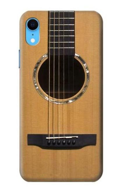 S0057 Acoustic Guitar Etui Coque Housse pour iPhone XR