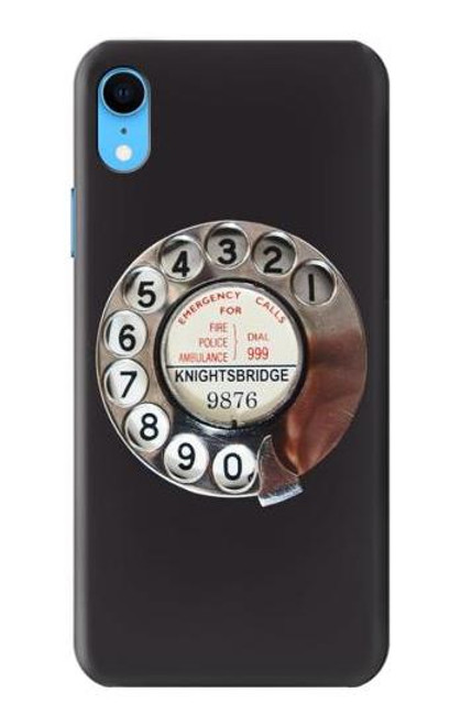 S0059 Retro Rotary Phone Dial On Etui Coque Housse pour iPhone XR