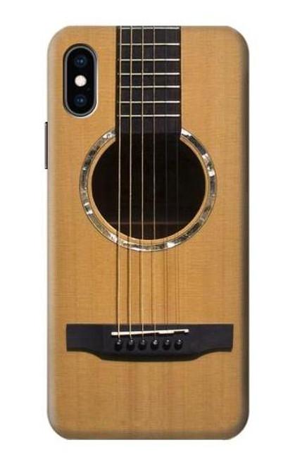 S0057 Acoustic Guitar Etui Coque Housse pour iPhone X, iPhone XS